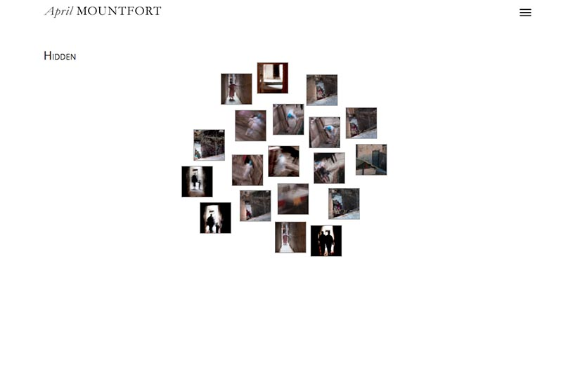 web design for a painter and photographic artist - photo-thumbs page - laundress portfolio
