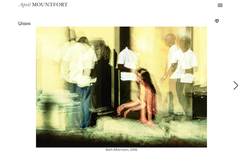 web design for a painter and photographic artist - photo single page - urban portfolio