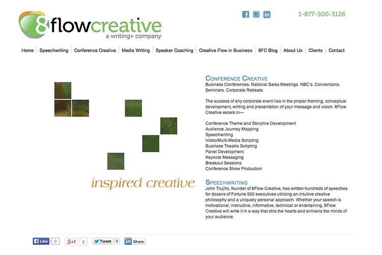 web design for a creative speechwriting coach
