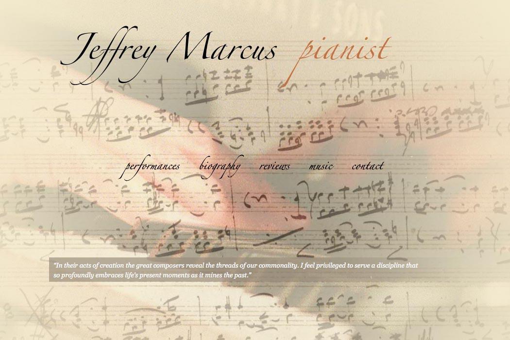 web design for an accomplished concert pianist