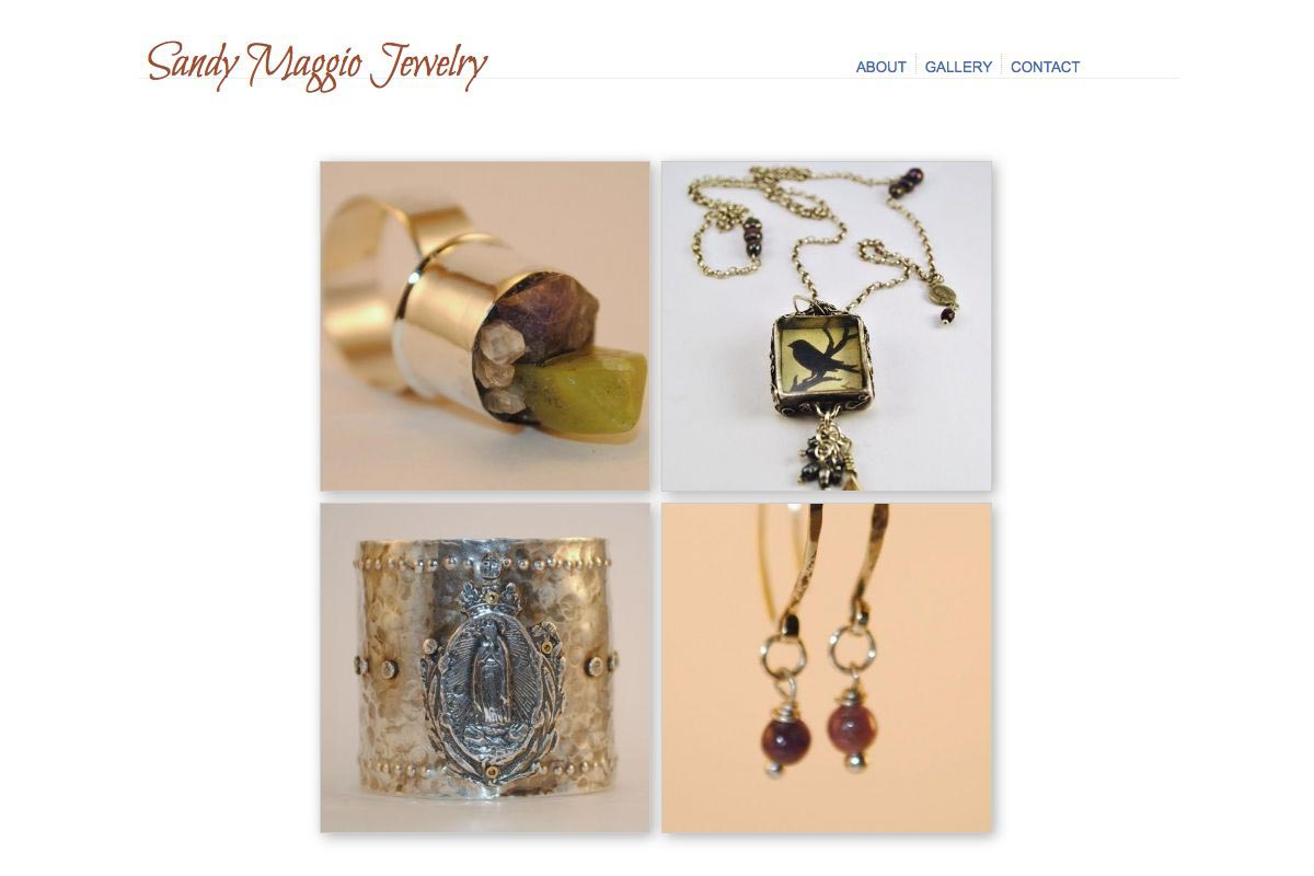 web design for artists - sandy maggio artisan website - by web designer for artists, Rohesia Hamilton Metcalfe
