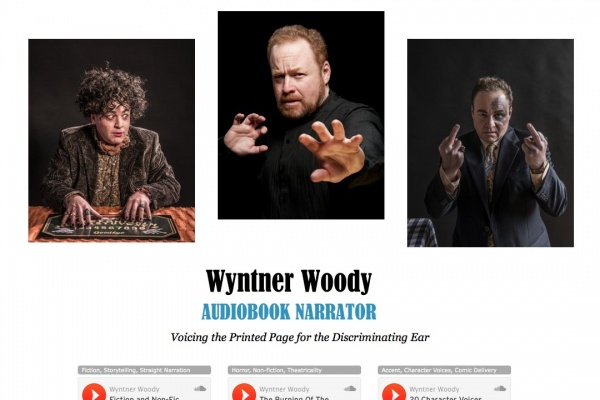 web design for an actor who narrates audiobooks - Wyntner Woody