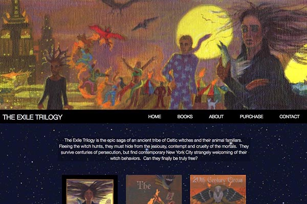 web design for a graphic novel author and illustrator
