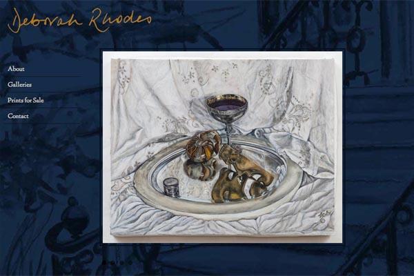 web design for an artist - Deborah Rhodes