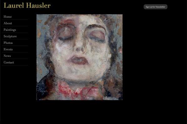 web design for a Maryland artist - Laurel Hausler