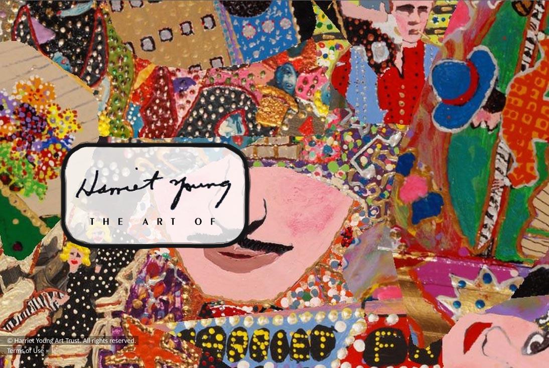web design for an American folk artist - Harriet Young