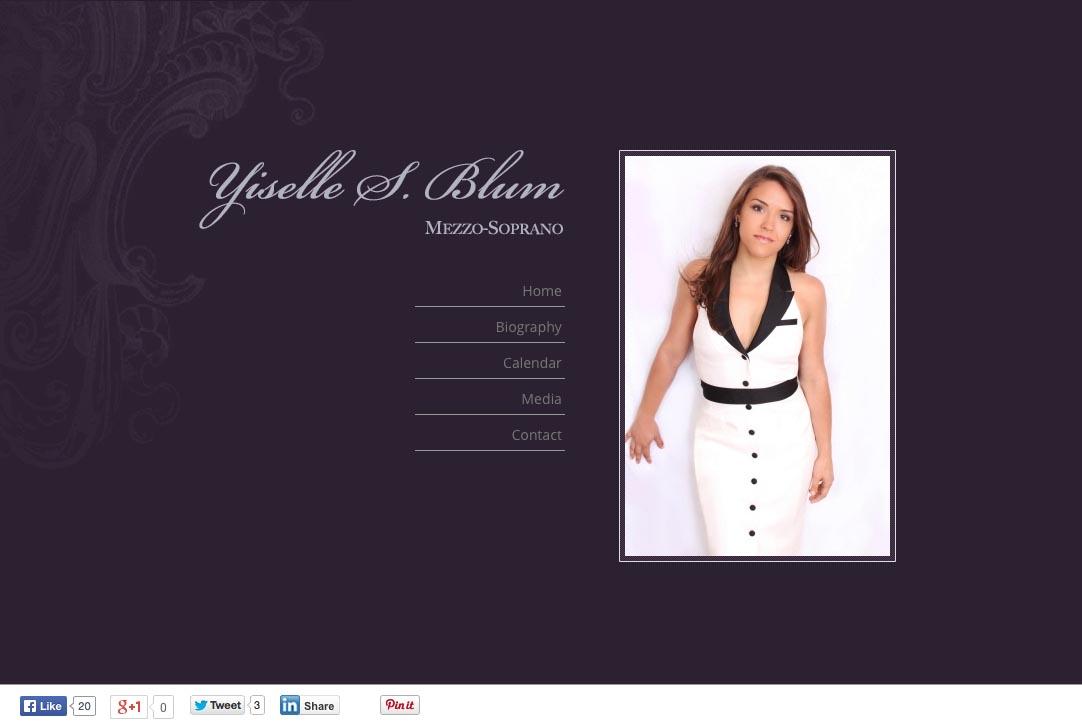web design for an opera singer - Yiselle Blum