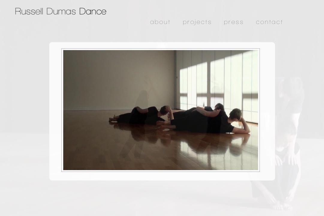 web design for a choreographer - Russell Dumas