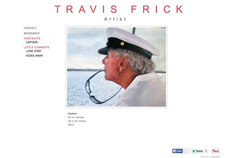 web design for a portrait painter - Travis Frick - captain painting page