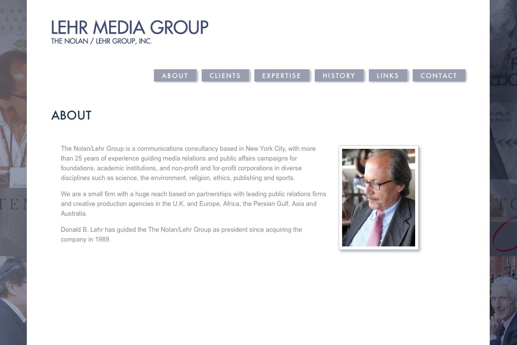 web design for a public relations consultant - Nolan Lehr