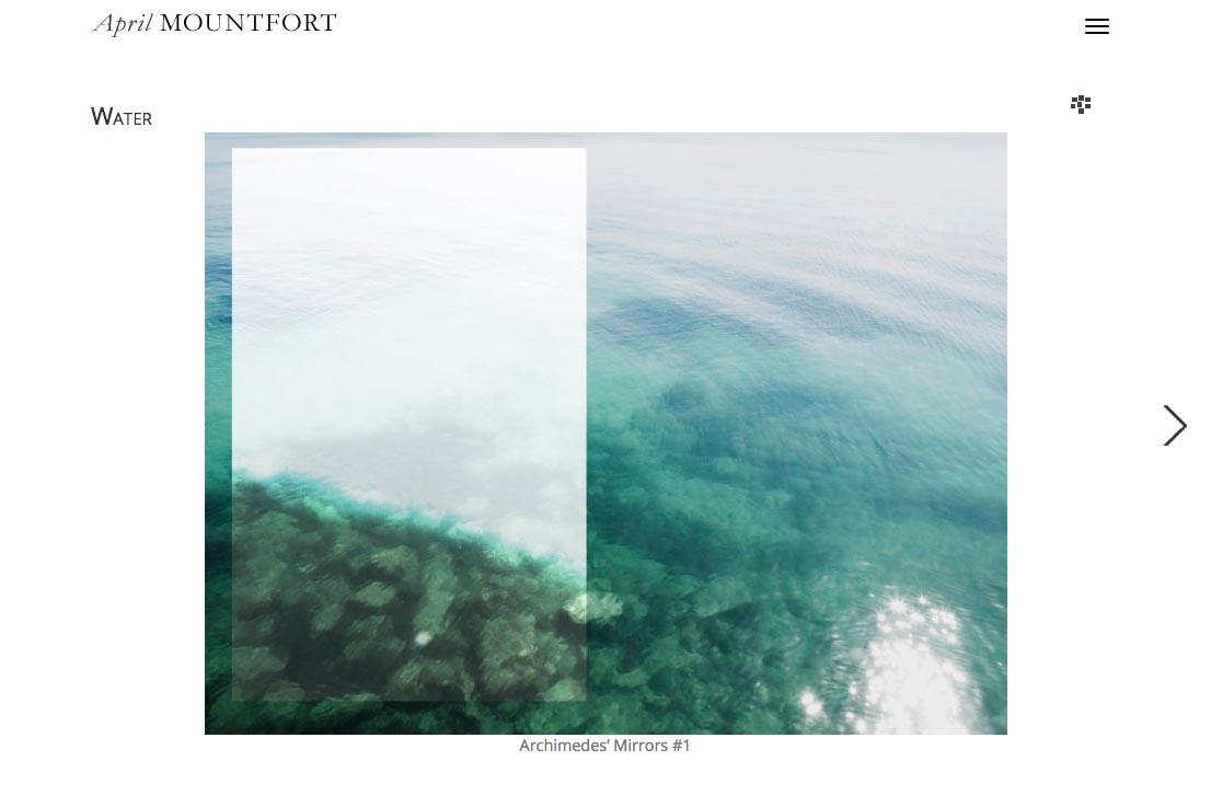 web design for a photographic artist - April Mountfort