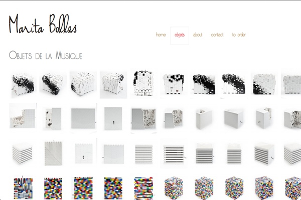 web design for a composer and sculptor - Marita Bolles - by web designer for artists, Rohesia Hamilton Metcalfe