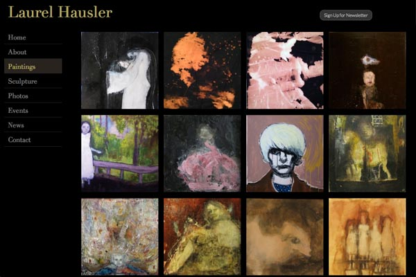 web design for a Maryland artist - paintings index page