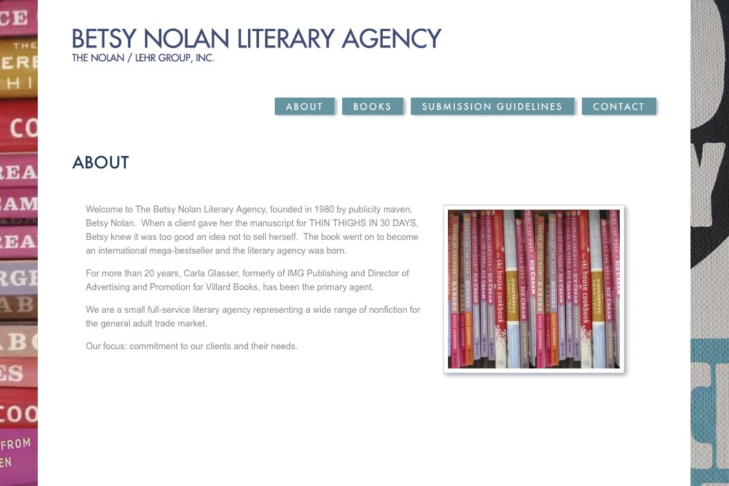 web design for a book publisher - Betsy Nolan