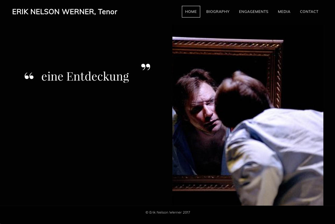 customization of a weebly site for an opera singer - Erik Nelson Werner
