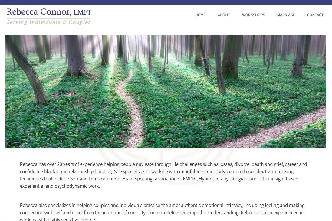 web design for a therapist - Rebecca Connor