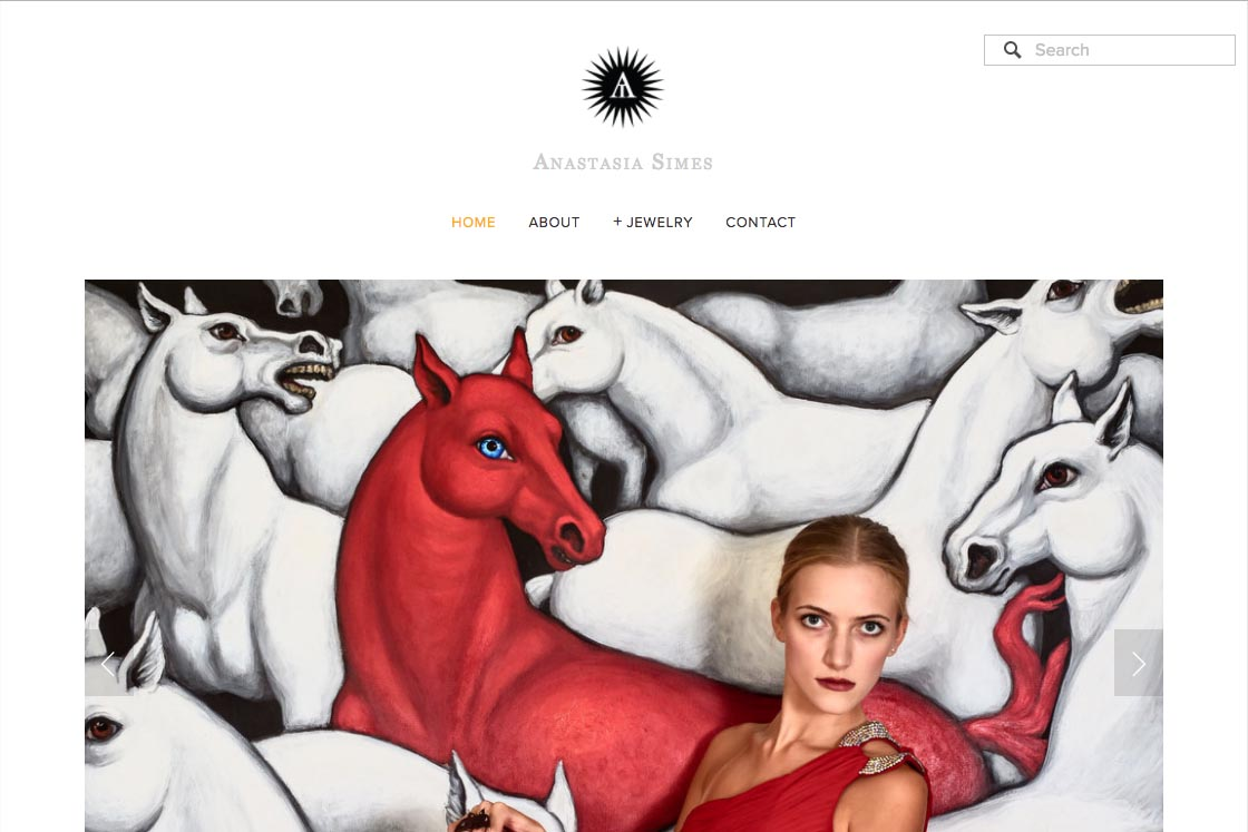Customization of a Squarespace template for a jeweler - Anastasia Simes