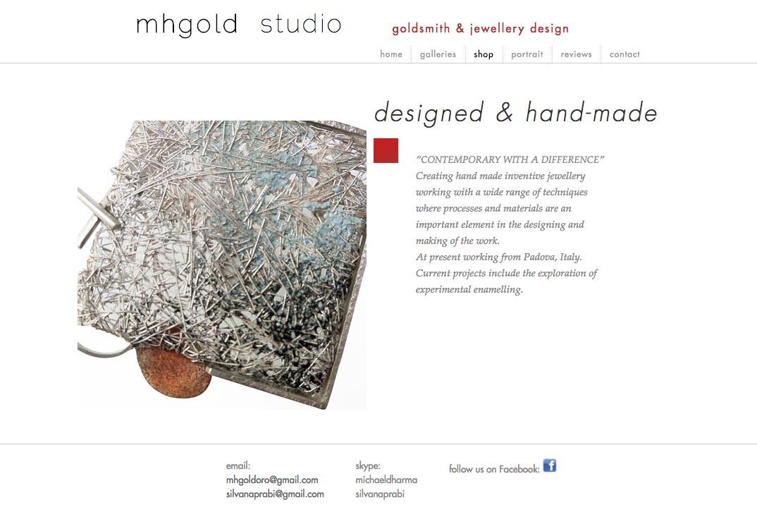 web re-design for an Australian jeweler - Michael Hofmeyer