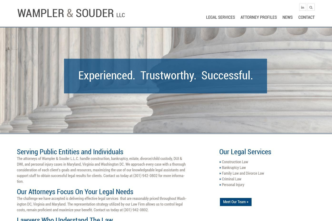 draft web design for a law firm