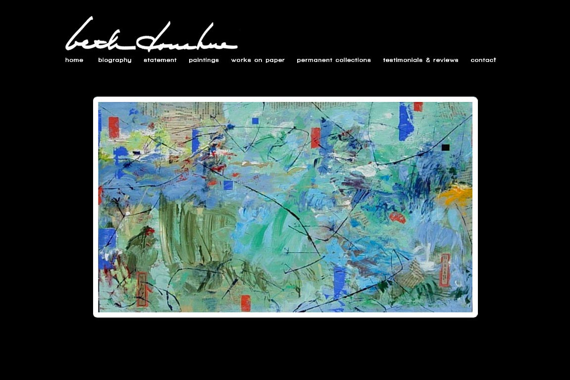 web design for artists -  beth donahue artist website - by web designer for artists, Rohesia Hamilton Metcalfe
