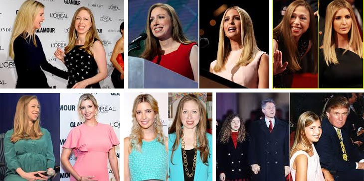 Example of image search results for Chelsea Clinton and Ivanka Trump