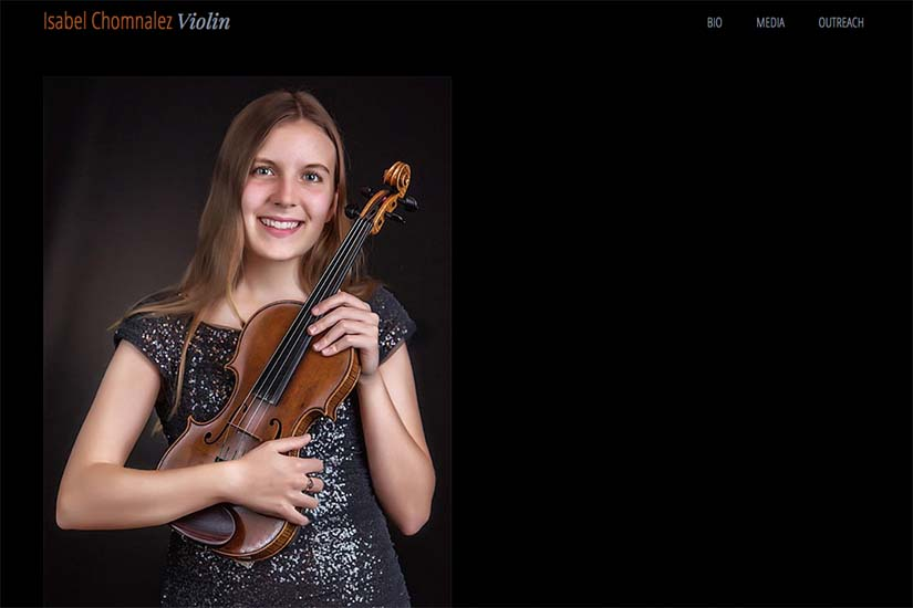 web design for a young violinist