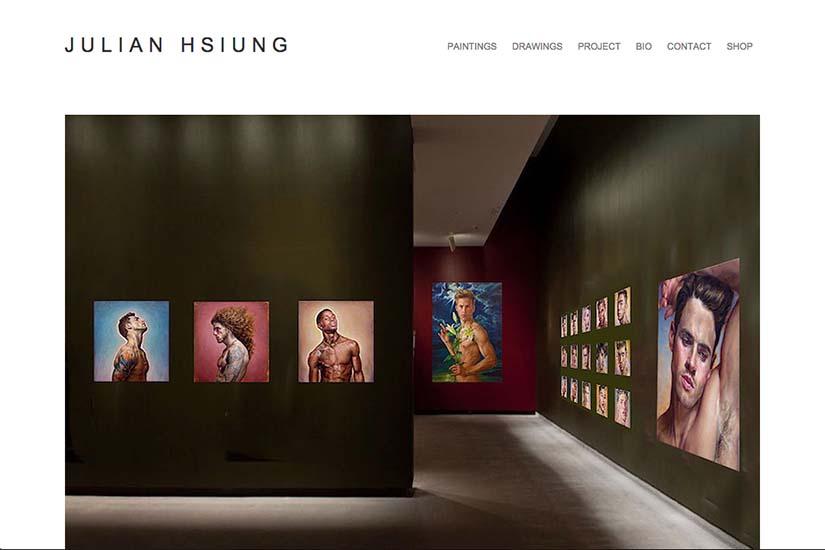 web design for an artist: Julian Hsiung