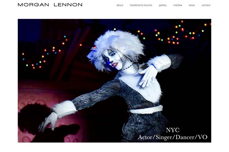 web design for an actor in New York