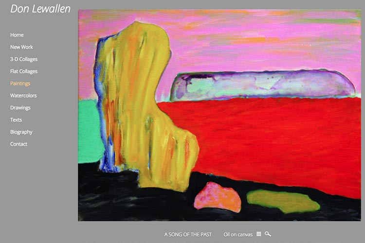 web design for an American abstract artist - paintings single work page