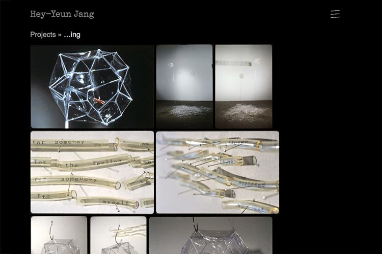 web design for sculptor and installation artist - ing project