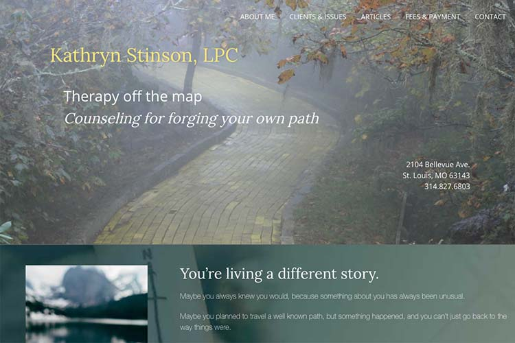 web design for a therapist