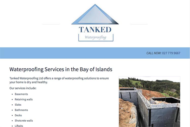 web design for a waterproofing business