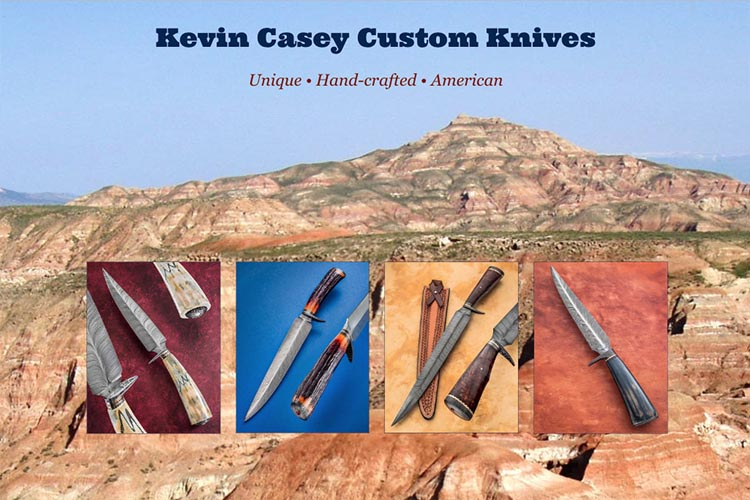 web design for a custom knifemaker in Wyoming