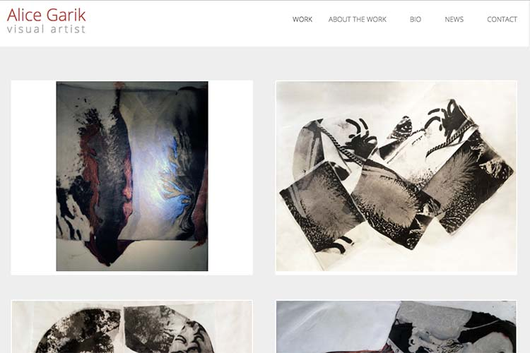 web design for a visual artist working with tattoo imagery - home page