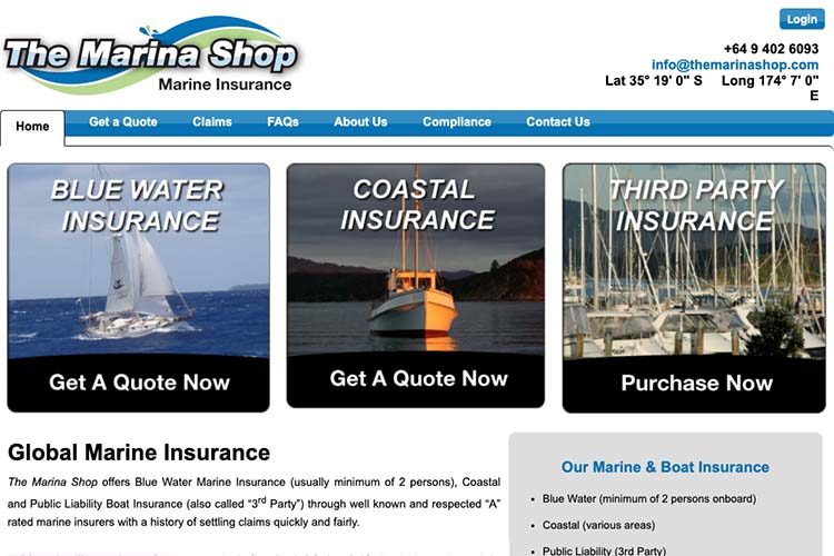 responsive web design for an insurance broker