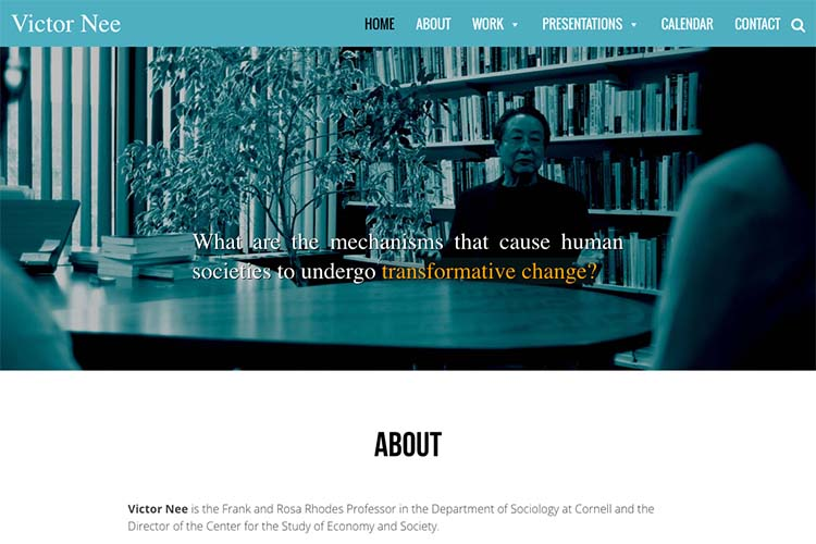 web design for an author - victor nee