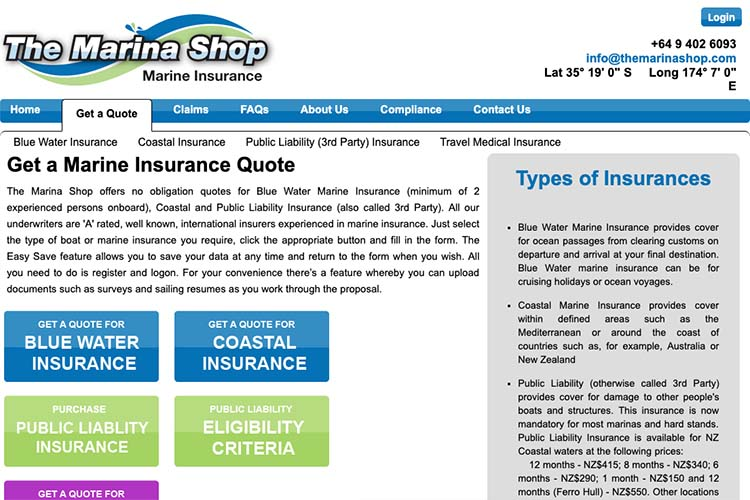 responsive web design for an insurance broker - get-a-quote page