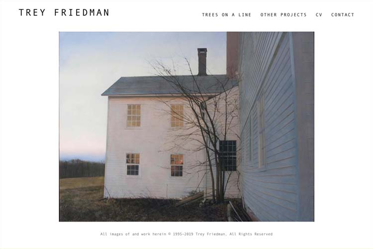 Web design for an artist - Trey Friedman homepage
