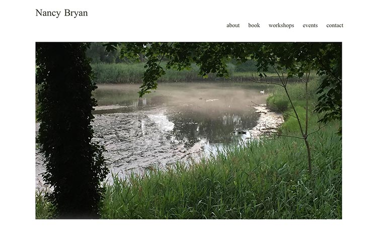 web design for a writer and teacher - home page