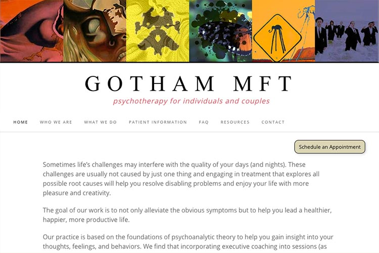 web design for a therapist office