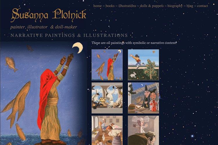 web design for a graphic novel artist - illustrations page