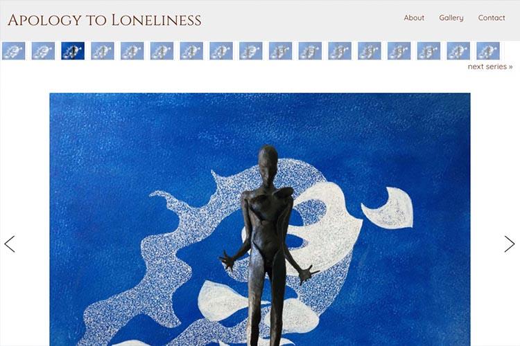 website design for an artist - gallery single artwork page