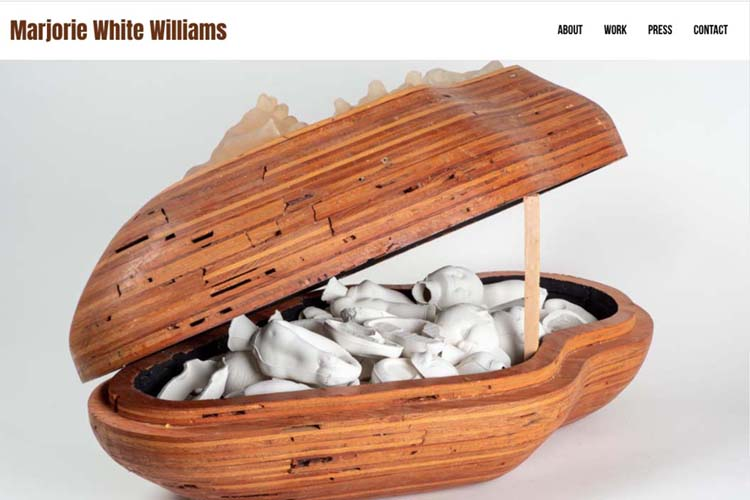 web design for a sculptor - home page