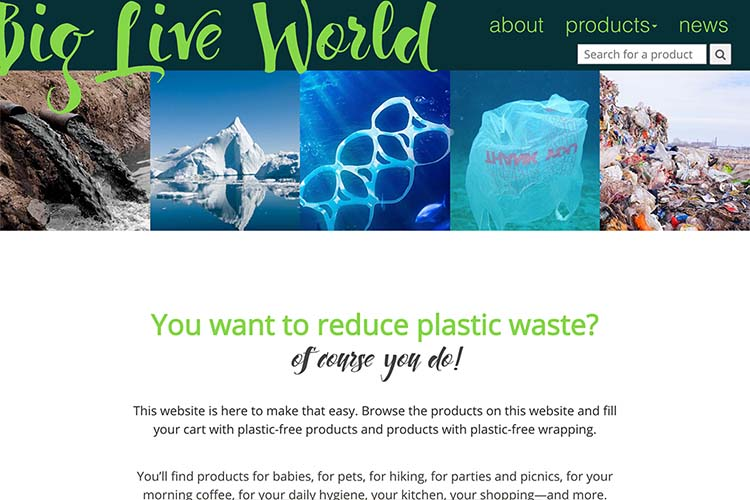 web design for plastic-free living