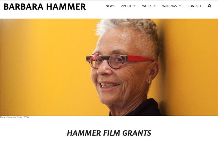 website design for filmmaker and performance artist - grantspage