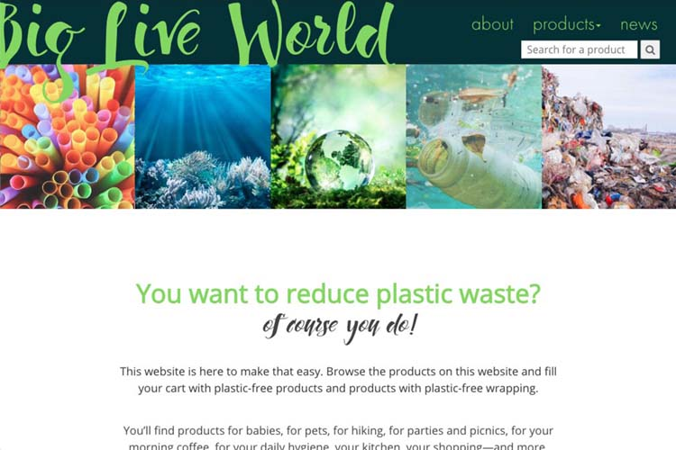 web design for an environmental awareness website