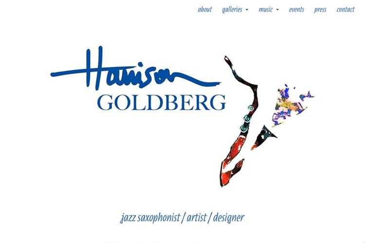 web design for Harrison Goldberg - artist & musician - homepage
