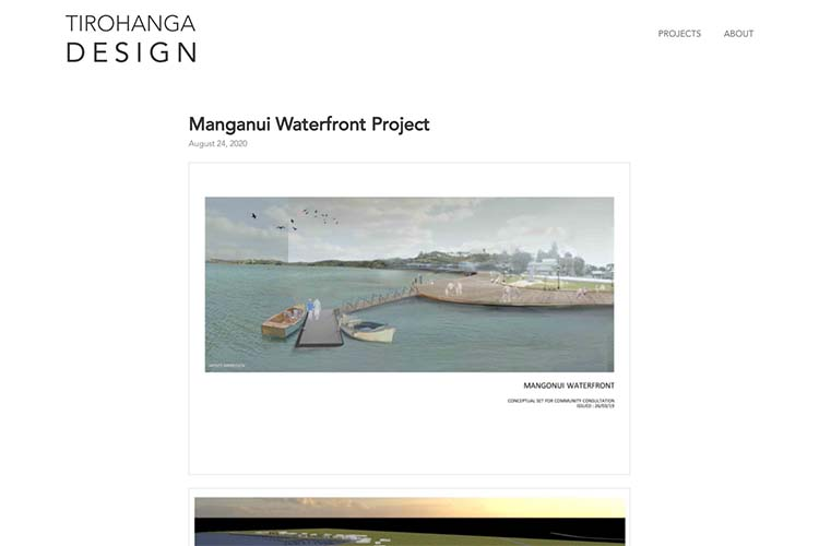 website design for an architect - project page waterfront design