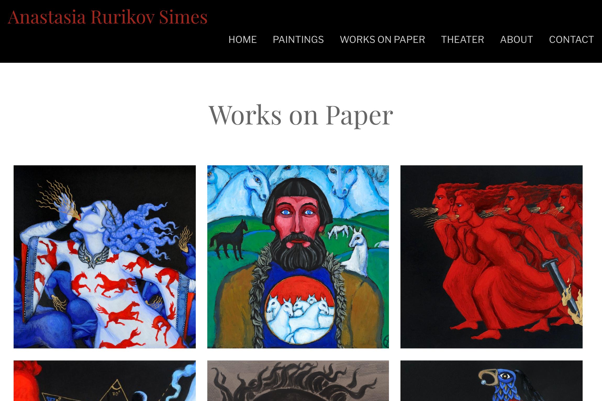 website design for an artist