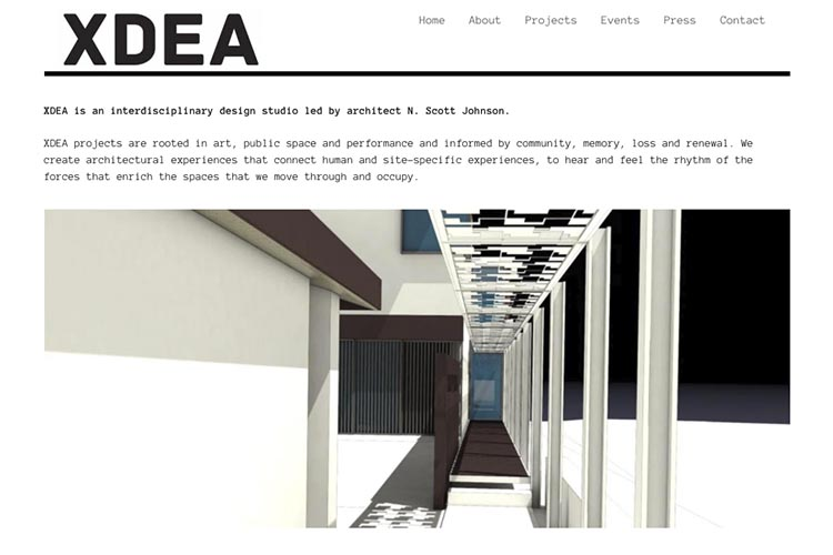 website design for an architect